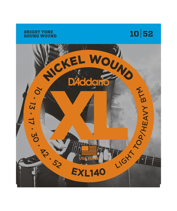 Electric strings set Nickel Wound Light Top/Heavy Bottom 10-52