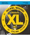 Jeu de cordes Basse XL Extra-super soft 35-95 filé rond nickel