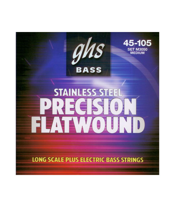 Jeu de cordes FLAT Précision basse filé plat Médium 45-105 STAINLESS STEEL