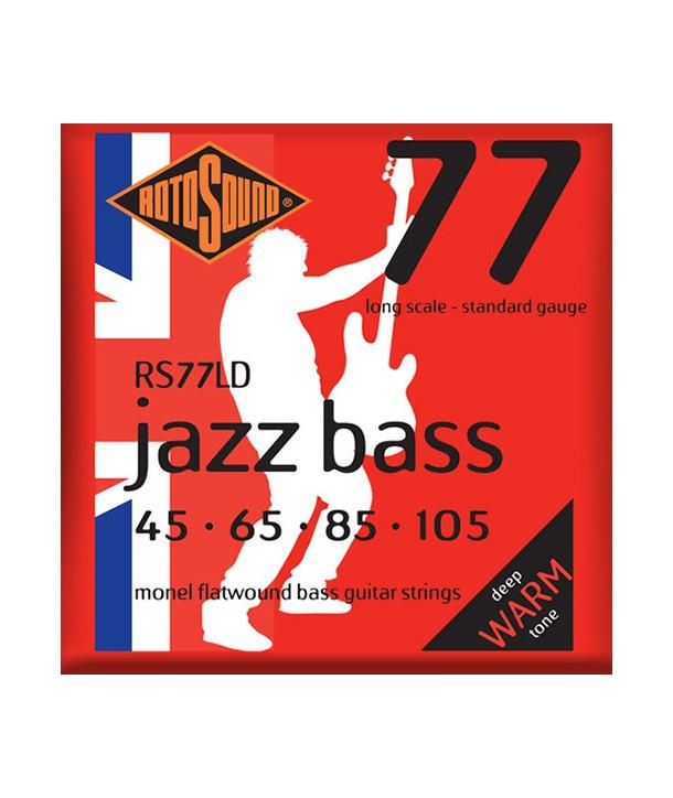 Jeu de cordes JAZZ BASS filé plat Standard 45-105