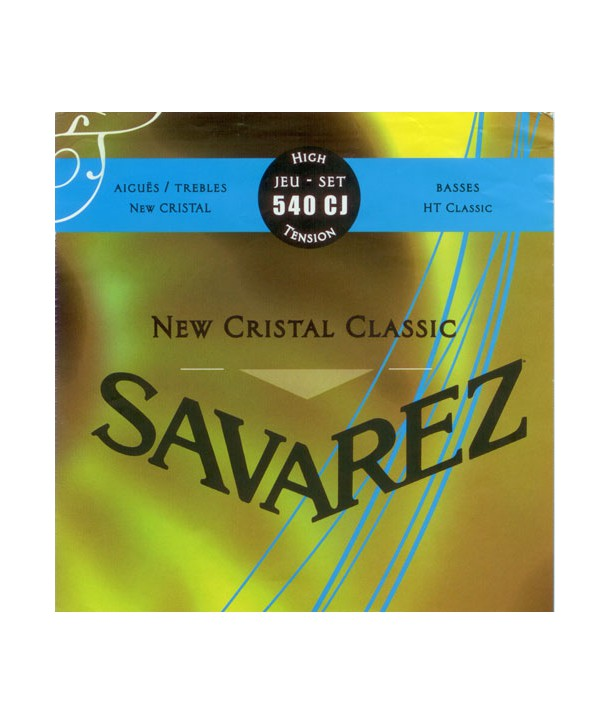 Jeu de cordes classique NEW CRISTAL CLASSIC Bleu Tension forte 540CJ