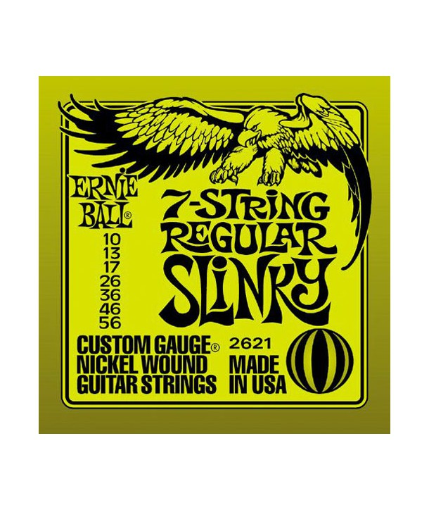 7 strings for electric guitar Regular Slinky 10-56