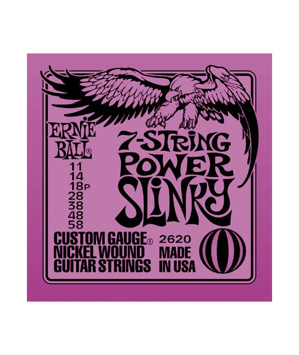 7 strings for electric guitar Power Slinky 11-58