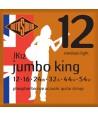 Acoustic Strings Set Phosphor Bronze Jumbo King Medium Light 12-54