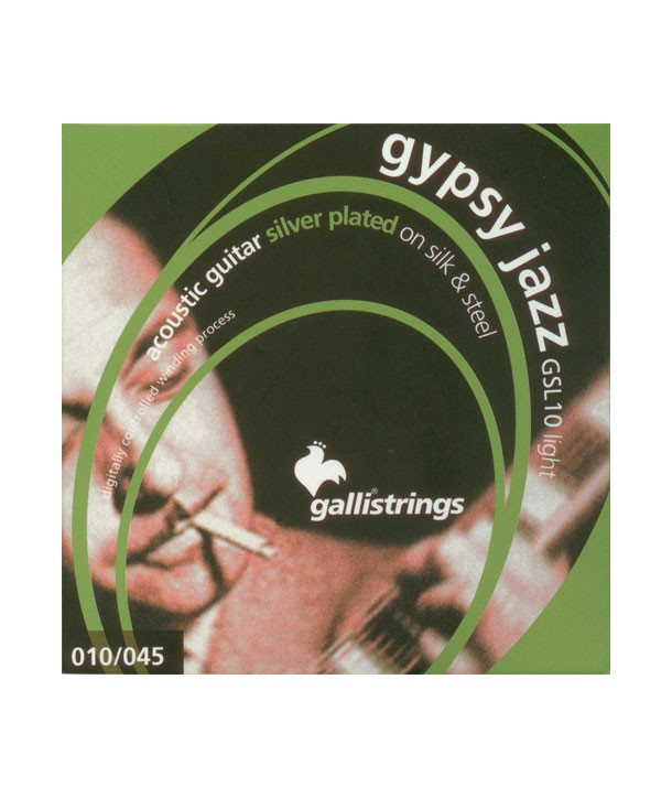Acoustic strings Set Ball end Gypsy Jazz Silk and Steel Light 10-45