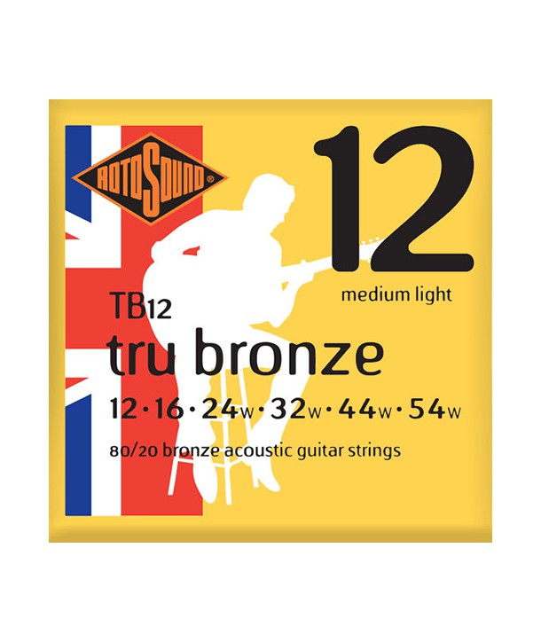 Acoustic strings set 80/20 bronze Tru Bronze Medium Light 12-54