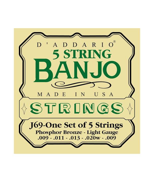 Jeu de cordes pour pour Banjo 5 Cordes Phosphore Bronze Light