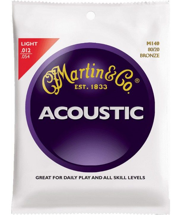 Acoustic strings set 80/20 Bronze Light 12-54