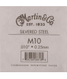 Single acoustic string Silvered steel 010