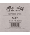 Single acoustic string Silvered steel 012