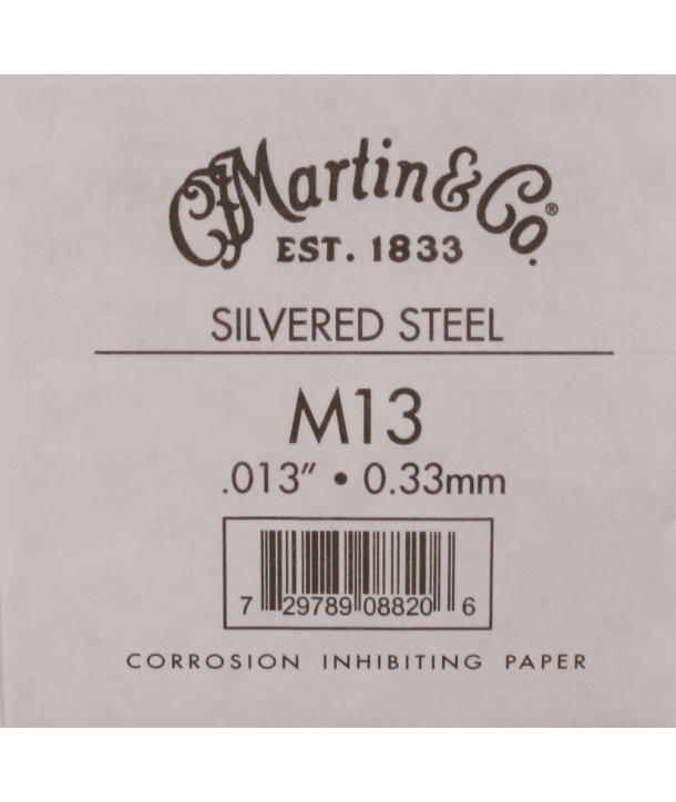 Single acoustic string Silvered steel 013