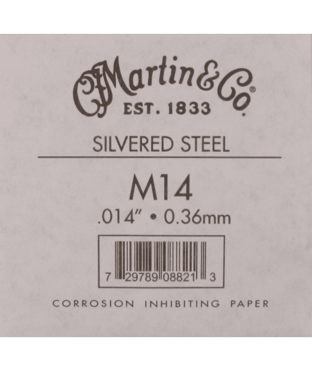 Single acoustic string Silvered steel 014