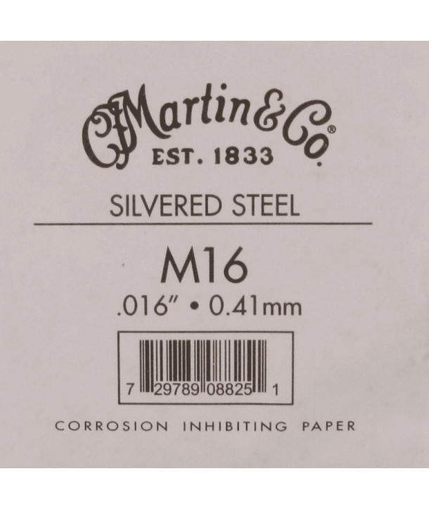 Single acoustic string Silvered steel 016