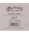 Single acoustic string Silvered steel 017