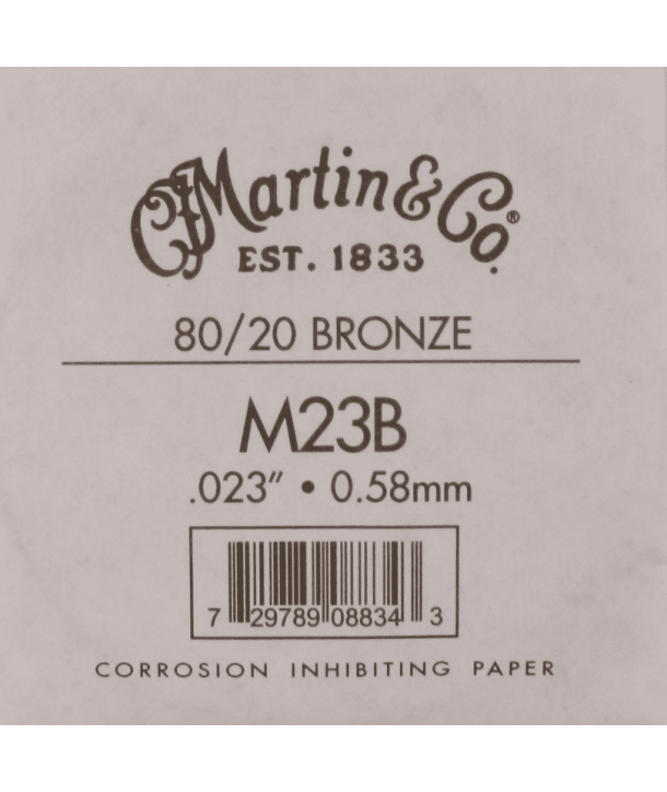 Single acoustic string Bronze wound 023