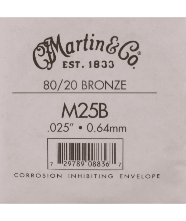 Single acoustic string Bronze wound 025