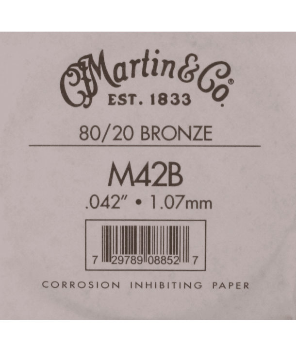 Single acoustic string Bronze wound 042