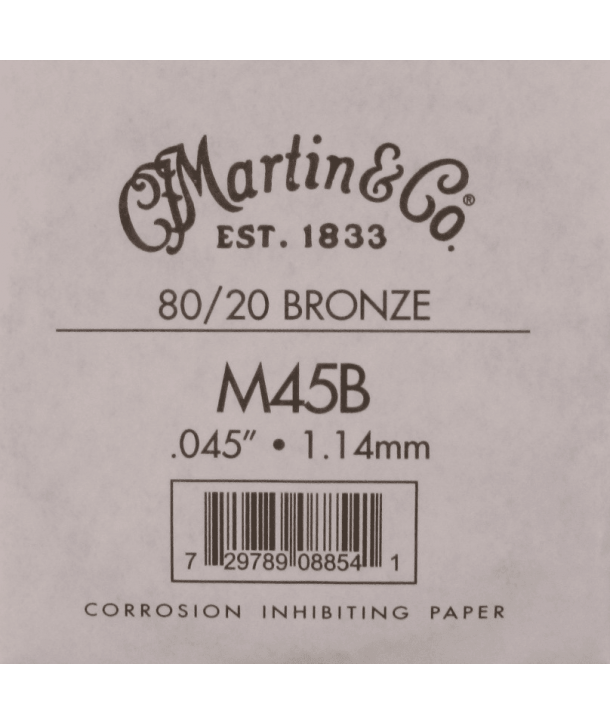 Single acoustic string Bronze wound 045