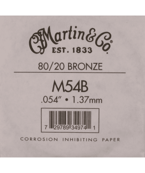 Single acoustic string Bronze wound 054