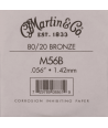 Single acoustic string Bronze wound 056