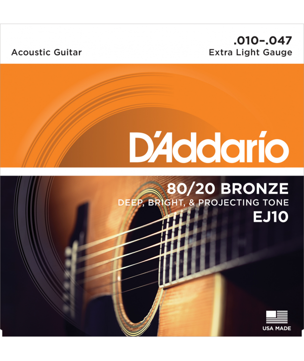 Acoustic strings set 80/20 Bronze Extra-light 10-47