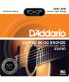 Acoustic Strings set EXP Coated 80/20 Bronze Extra-light 10-47
