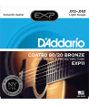 Acoustic Strings set EXP Coated 80/20 Bronze Light 12-53