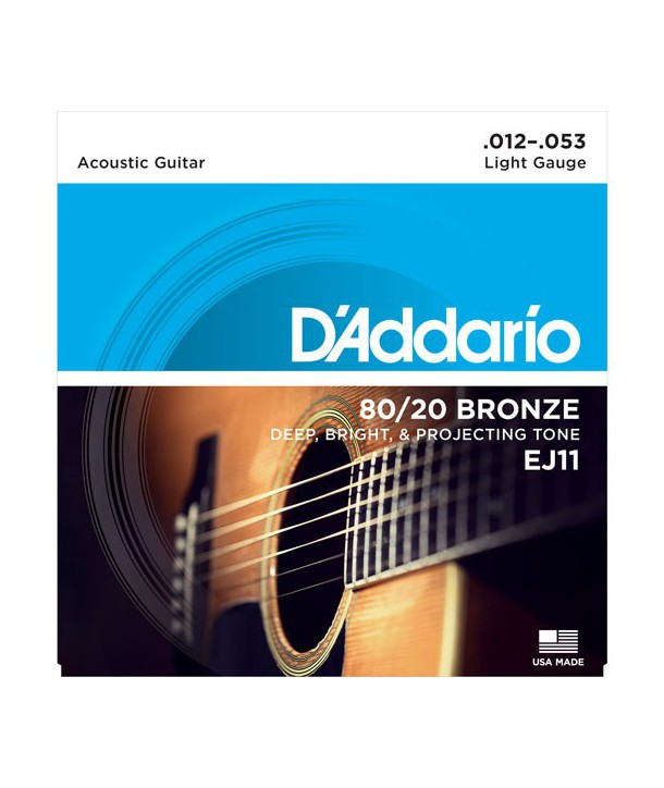 Acoustic strings set 80/20 Bronze Light 12-53