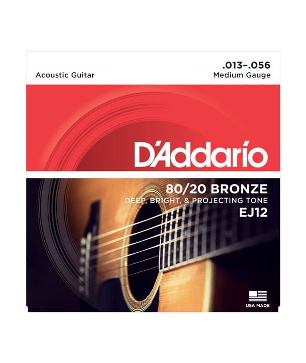 Acoustic strings set 80/20 Bronze Médium 13-56