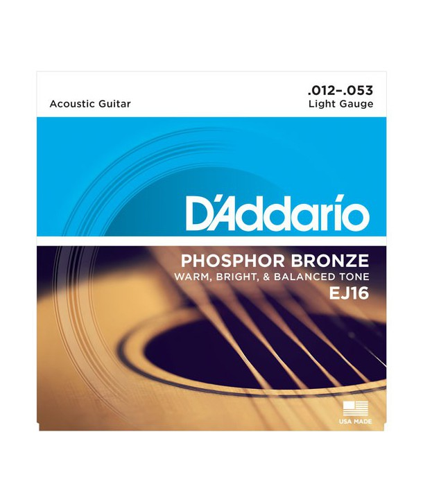 Acoustic strings set Phosphor Bronze Light 12-53