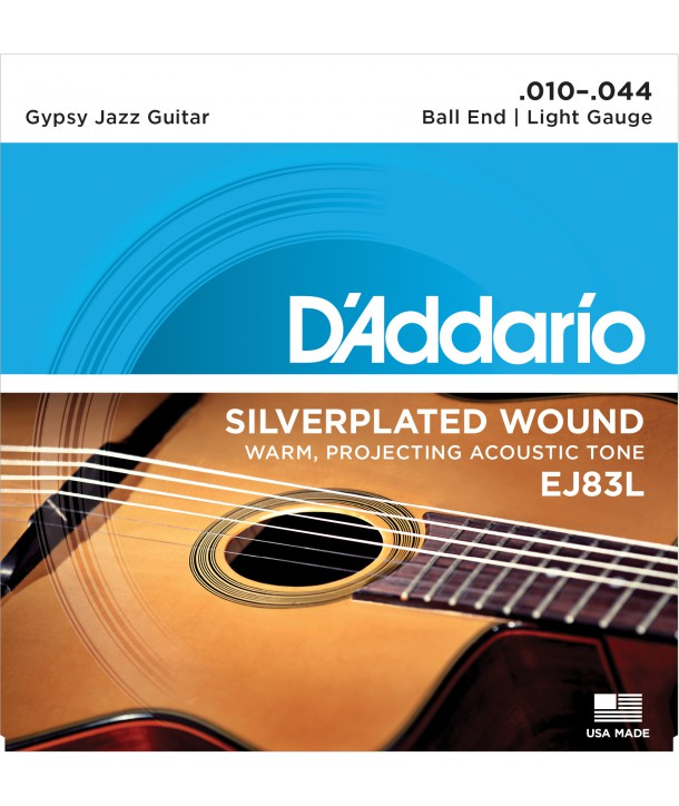 Acoustic Strings Set Ball end Gypsy Jazz Light 10-44