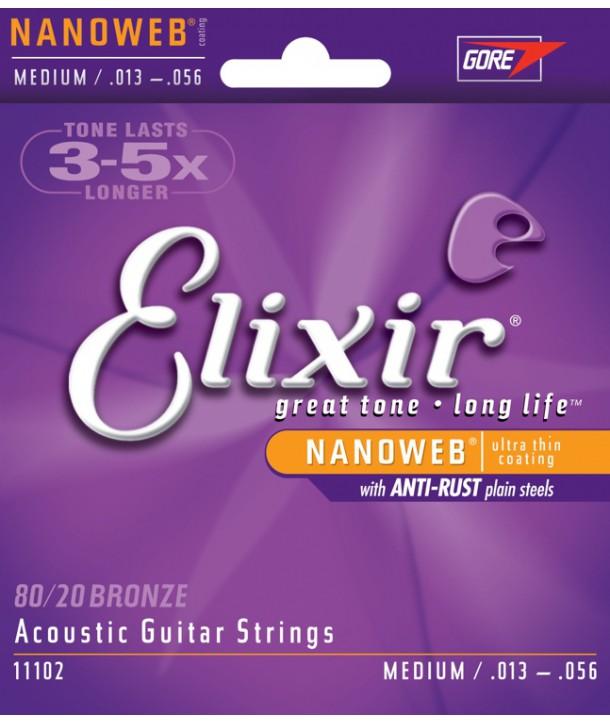 Acoustic strings set Nanoweb Bronze Medium 13-56