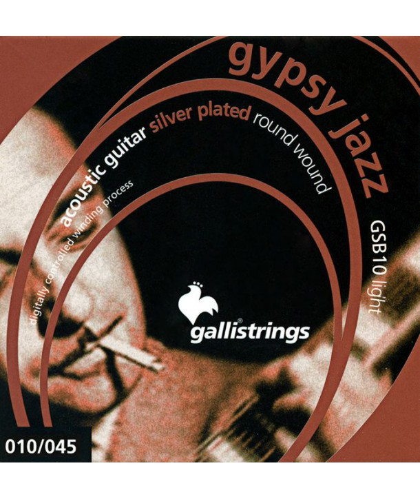 Acoustic strings Set Ball end Gypsy Jazz Light 10-45