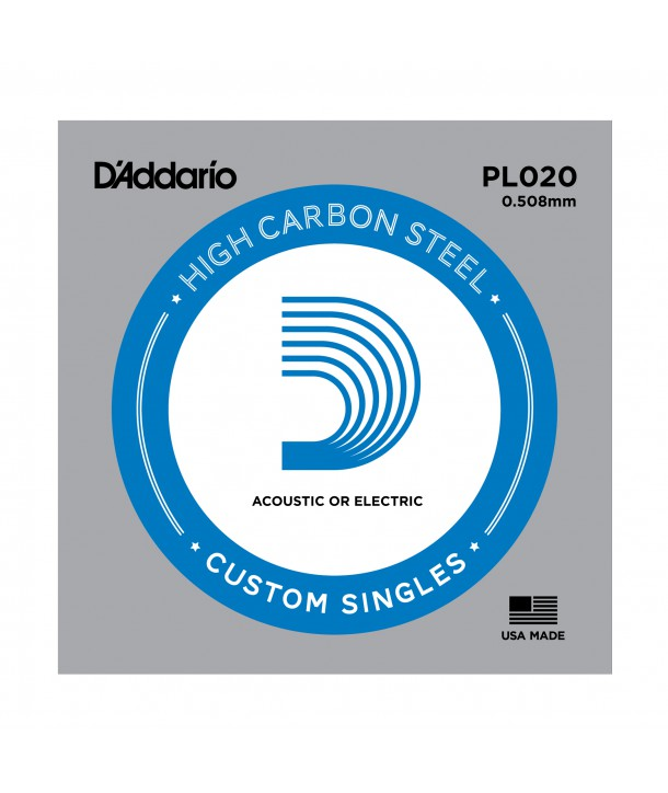 Acoustic or electric single string Plain Steel 20