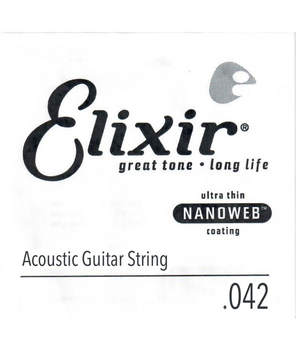 Single 42 acoustic String Nanoweb Bronze wound