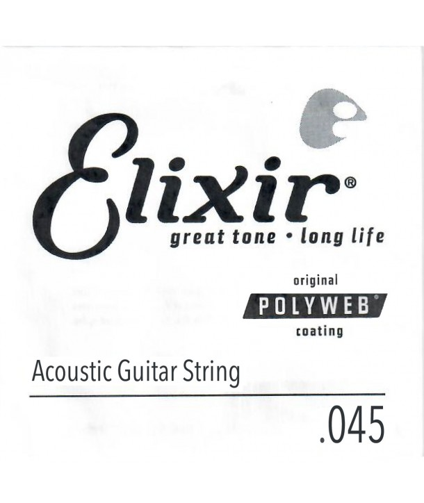 Single 45 acoustic String Polyweb Bronze wound
