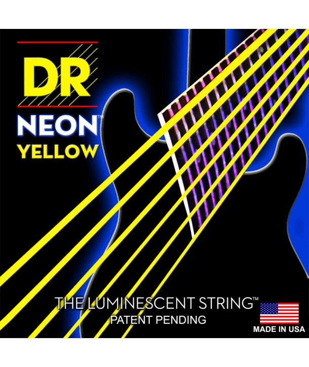 Electric strings set DR SuperStrings Neon Hi-Def Yellow 9-42