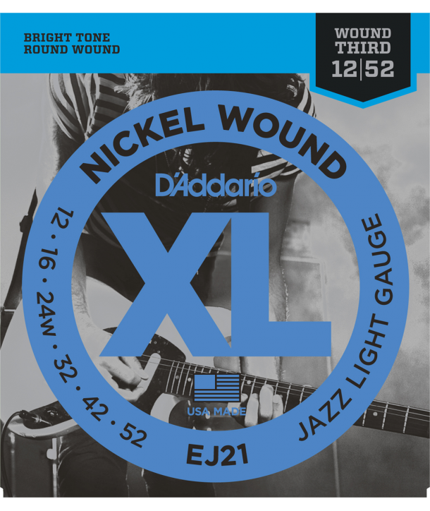 Electric strings set XL Nickel Round Wound Jazz Light 12-52