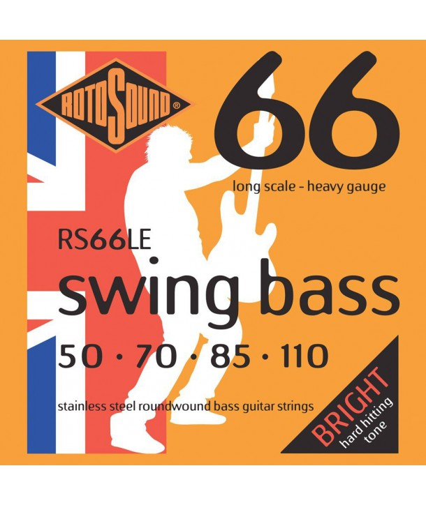 Jeu de cordes SWING BASS Heavy 50-110 filé rond STAINLESS STEEL