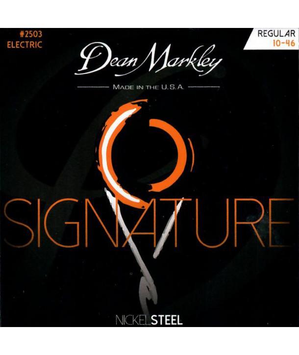 Jeu de cordes électriques Nickel Steel Signature Regular 10-46