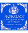 Jeu de cordes classique Silver-Spécial 815HT Tension Forte Hannabach Bleu