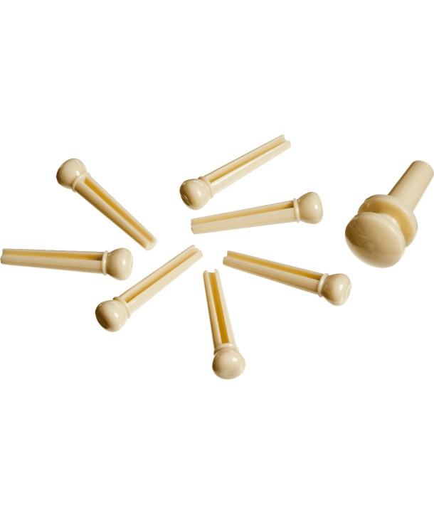 Chevilles et attache courroie en plastique ivoire
