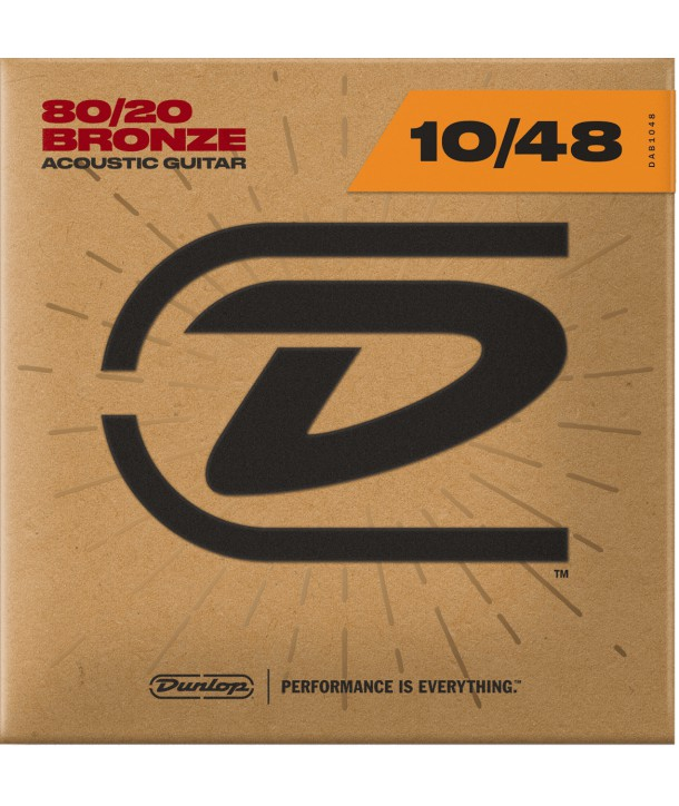 Acoustic strings set 80/20 Bronze Extra Light 10-48