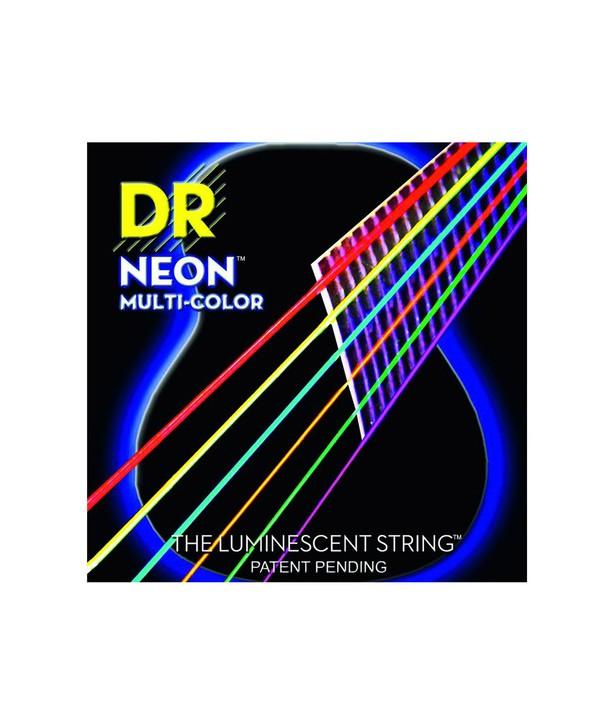 Juego de cuerdas folk Fósforo-Bronce Neon multicolor Extra-light 10-48