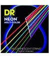 Jeu de cordes Folk Néon multicolor Phosphore Bronze Extra-light 10-48