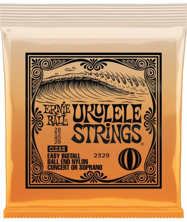 Juego de cuerdas para Ukelele Clear nylon Ball end