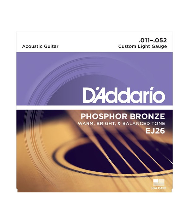6-Pack Acoustic strings set Phosphor Bronze Custom-light 11-52