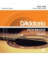 Acoustic strings set 85/15 American Bronze Extra-light 10-50